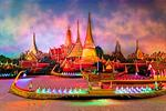 Miniature Thai Royal Barge Performance Center