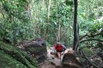 Trekking at Khao Hon Nak Limestone Mountain