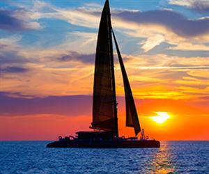 Baba Hideaway by Sailing Catamaran Sunset Afternoon
