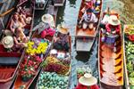 Cycling Tour to Bangkok Floating Markets and Long-tail Boat Ride